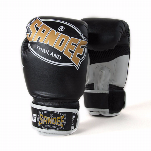 Sandee Kids Cool-Tech Boxing Gloves Black/Gold